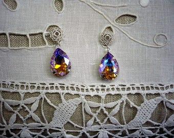 Earrings for pierced ears swarovski crystal