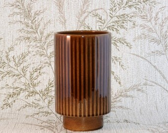 Dutch 'Driehoek Huizen' Pottery Vase from the Noovo serie - Vintage - from the 60s