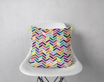 Chevron Pillow, Cheveron Pillow, Kids Pillow, Decorative Pillow, Throw Pillow Cover, Geometric Pillow, Modern Pillow Cover, Colorful Pillow