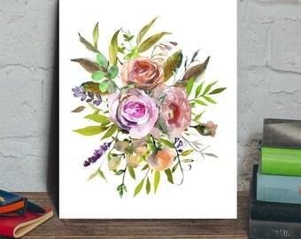 Flower digital art, flower art print, flower printable, floral digital, floral art print, flower bouquet, floral digital print