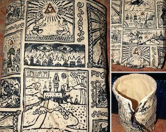 Legend of Zelda dice bag, drawstring bag, coin purse