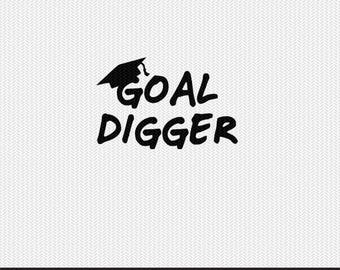goal digger svg dxf file instant download silhouette cameo cricut clip art commercial use
