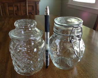 Jelly Honey Qtips Tea  Sugar Preserve Jars