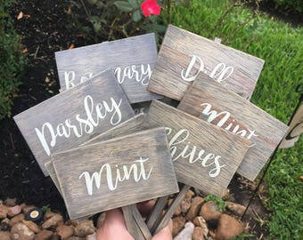 Perfect Herb Marker, Herb Sign, Herb Stakes, Garden Signs, Herb Garden, Spring