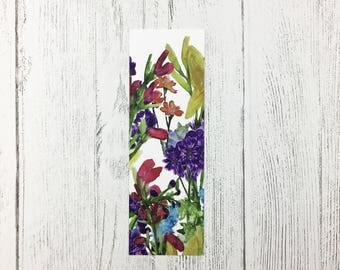 Floral Bookmark / Mothers Day Gift / Gift For Book Lover / Gifts For Her /  Floral Gift / Gardening Gift / Flower Bookmark