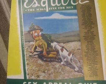 """May 1942 Litho Poster of Esquire Magazine for Men 22"""" X 28"""""""