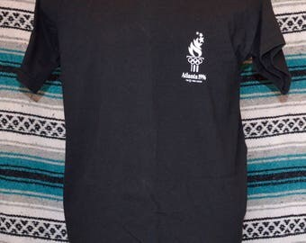 1996 Atlanta Olympics Single Stitch Shirt Fruit of the Loom Black X-Large