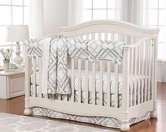 Easton Crib Bedding 4-pc | Gender Neutral Baby Bedding | Modern Baby Bedding