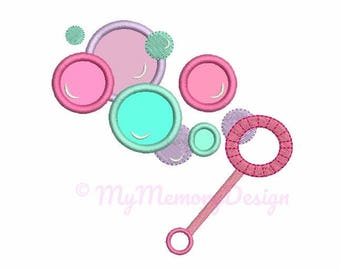 Bubble Embroidery Design - Bubble Wand Embroidery Pattern - Machine embroidery Instant download pes hus jef vip vp3 xxx dst exp 4x4 5x7 6x10