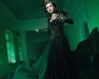 Disney Oz the Great and Powerful Evanora cosplay costume magician dress