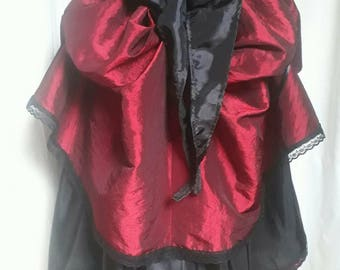 Steampunk bustle burlesque wraparound asymmetric skirt