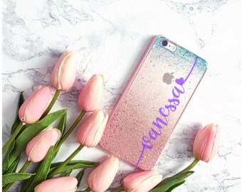 Mermaid Glitter Phone case iPhone 7 case iPhone 7 Plus case iPhone 6 case iPhone 6S Plus case iPhone 8 case iPhone 8 Plus case iPhone x case
