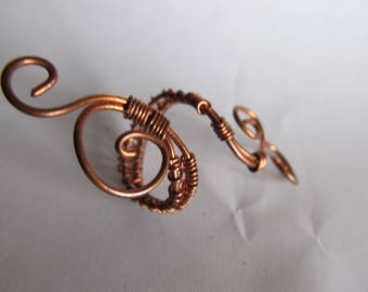 Adjustable Copper Wire Wrapped Ring