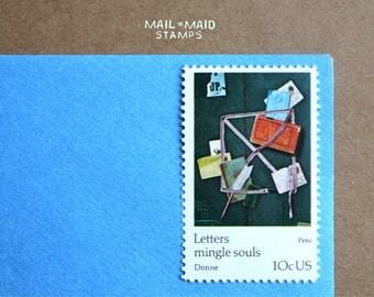 Letters Mingle Souls - Peto    Set of 10 unused vintage postage stamps