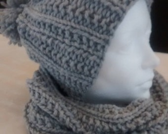 Matching neck warmer and hat set