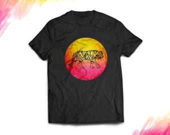 Tigert shirt, Tiger t-shirt, tiger gifts, tiger shirt women, tiger shirt men, tiger silhouette shirt, tiger tshirt, tiger shirt for girls