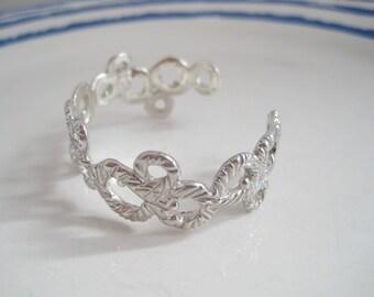 "Bubble shaped sterling silver bracelet  ""Schiuma"""