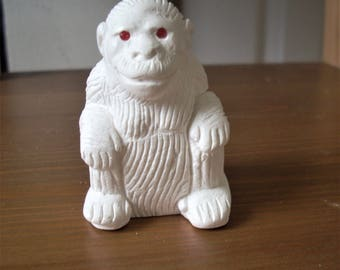 Christmas day gift, free shipping, Meerschaum chimpanzee, gift ideas, hand carved dog figure, handmade gift