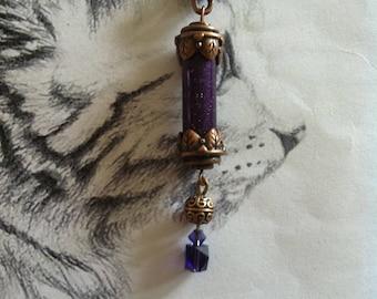 """Pendant """"Obsidian colours"""" glitter vial"""
