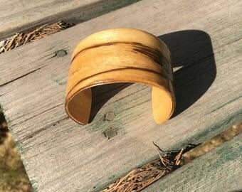 Natural Wood Cuff Bracelet