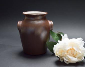 Vintage stoneware vase Scandinavian pottery Rustic decor Flower vase Primitive decor Table decor Scandinavian design Photo prop