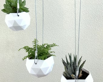 Graphic 3D hanging flower pot
