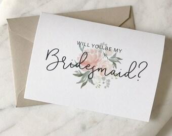 Will You Be My Bridesmaid? Card Set - Bridesmaid Card - Bridesmaid Proposal - Asking Maid of Honor - Cute Bridesmaid Cards - Ask Bridesmaid