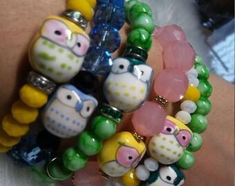 Owl Beaded Bracelets