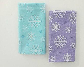 Metallic Snowfall Fabric by Michael Miller by the Half yard