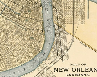 Old Map Of United States Of America Map Digital Download - Map of us new orleans