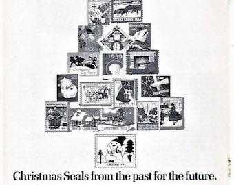Christmas Seals Magazine Ad Rare From 1979 Vintage Ephemera Tuberculosis American Lung Association United States Christmas Seals