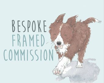 Framed Original illustration Commission