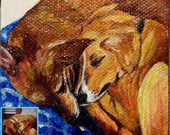 Custom Painting from Photo, Acrylic Painting on Canvas, Custom Pet Portraits, Dog/Cat/Animal Painting