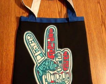 Peace statement reversible bag