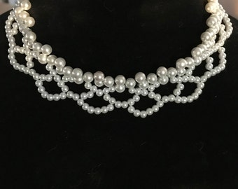 Bridal Pearls, Pearls. Seed Bead Pearls, White Pearls, Claw Clasp, Handmade, Variable Colors & Sizing