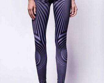 Psychedelic leggings, trippy leggings, trippy clothing, psy clothing, tribal leggings, steampunk clothing, printed leggings, funky leggings
