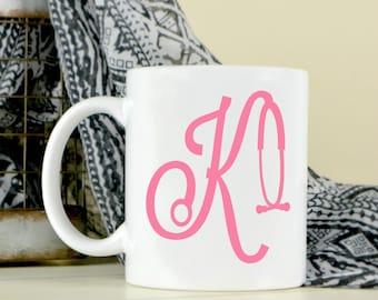 Monogrammed Nursing Gift - Nursing Coffee Mug - Graduation Gift - Custom Coffee Mug