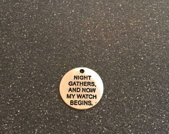 Game of Thrones night oath charm