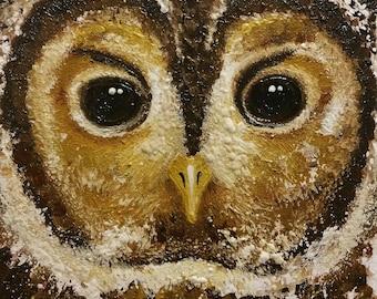 Original Tawny Owl oil painting