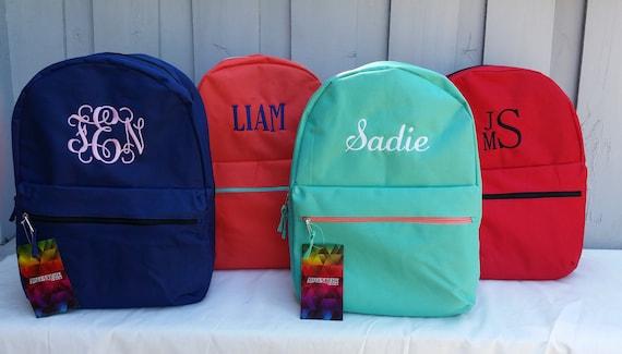 Personalized Backpack Monogrammed Girls Backpack Monogrammed
