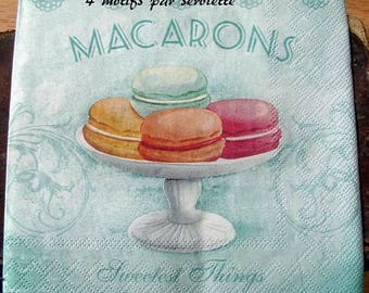 "A ""Macaroons"" napkin for decoupage"