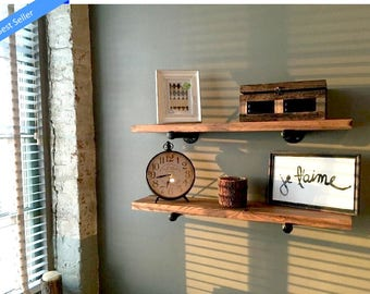 Floating Shelves, Floating Shelf, Shelf, Wall Shelf, Nursery Shelf, Wall Shelf Storage, Wooden Shelves, Wood Shelves, Pipe Shelf, Shelves