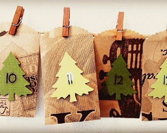 Advent Calendar from Upcycled Grocery Bags