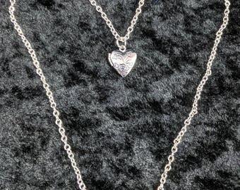 Heart locket necklace #357