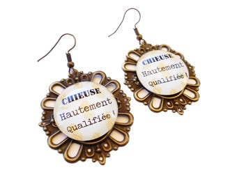 Humorous messages - skilled geek earrings!