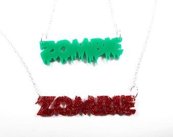 Zombie girl - Halloween Zombie necklace