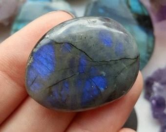 Deep Blue Labradorite Palmstone