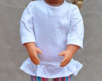 """Tunic and Leggings outfit for 18"""" dolls including American Girl."""