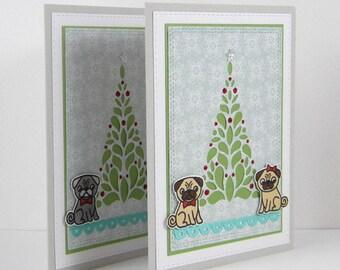 Pug Christmas Card, Pug Holiday Card, Pug Card