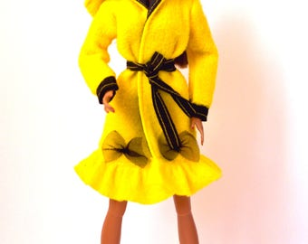 Barbie clothes - Barbie coat, Fashion Royalty coat, Poppy Parker coat, NuFace coat, Barbie jacket, Barbie doll clothes